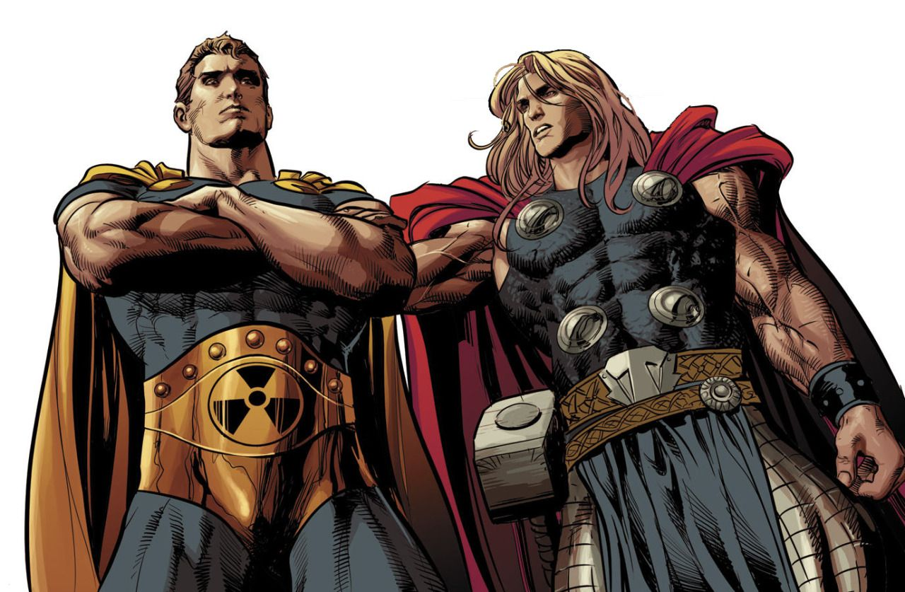 Hyperion And Thor By Mike Deodato Jr Heroes Marvel Marvel Comics Arte Super Heroe