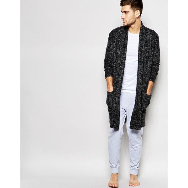 Image 1 of ASOS Loungewear Super Longline Cardigan In Boucle Fabric
