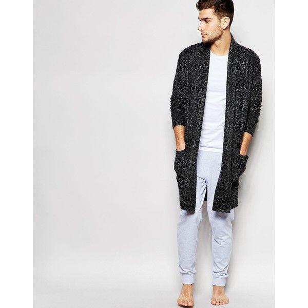 ASOS Loungewear Super Longline Cardigan In Boucle Fabric ($22) via ...