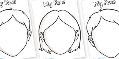 10 images about Templates – Printable Face Templates