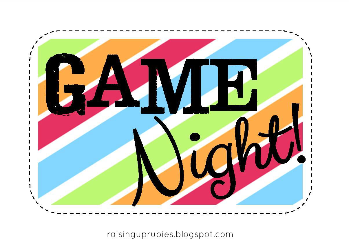 game night! free printable gift tag ♥ raisinguprubies