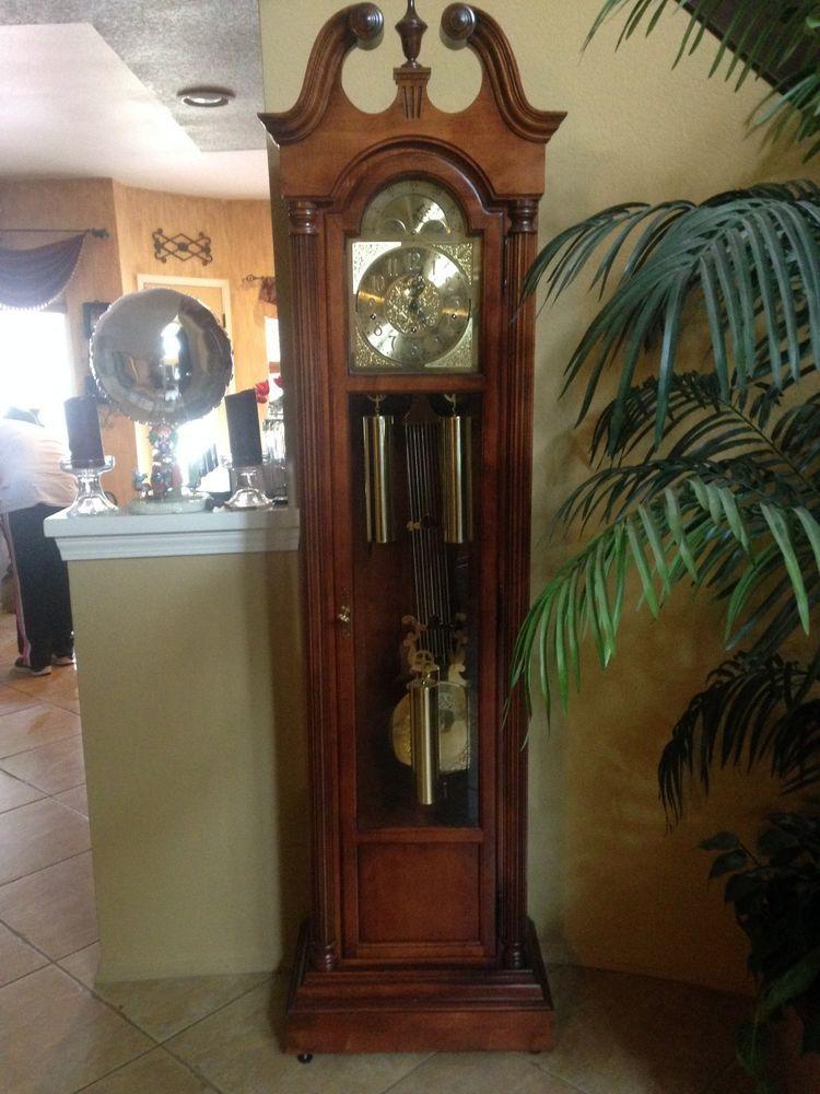howard miller grandfather clock chelmsford multi chimes wood u0026 glass