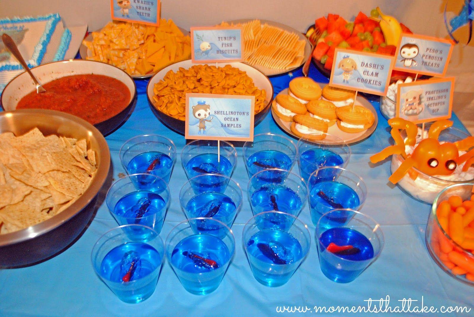 Octonauts Birthday Party Food Ideas Shellingtons Ocean Samples