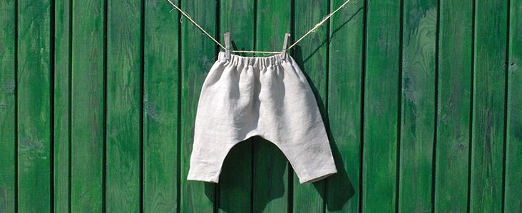 Baby Harem Pants- link to pattern (could do elastic at ankles too ...