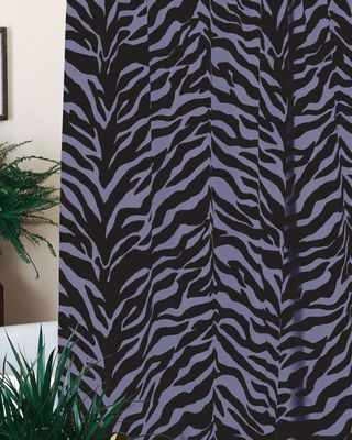 Clearance Sale On Black Purple Zebra Print Shower Curtain 72 X DelectablyYours Bat Decor