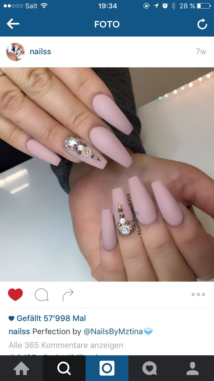 matte nägel! perfect!   nails forms   Pinterest   Nail forms and ...