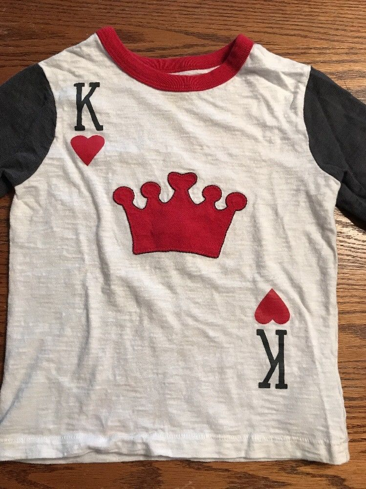 4e56fff68 Baby Gap Toddler Boys Size 4T King Of Hearts Valentine s Day Shirt ...