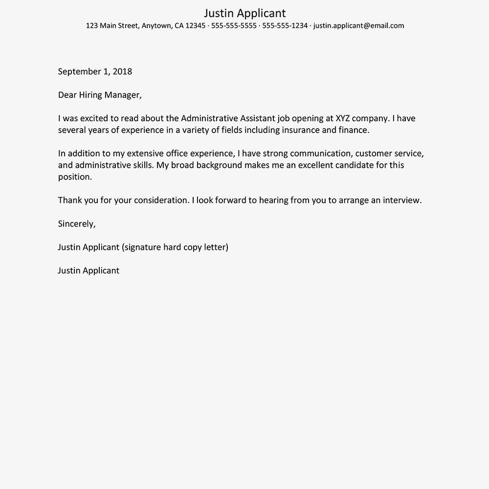 27 Administration Cover Letter Cover Letter For Resume Job