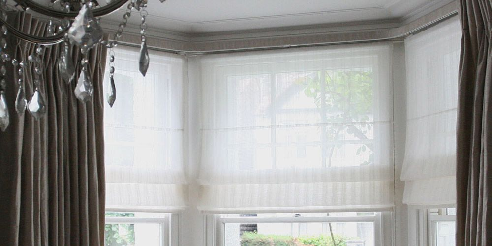 Voile Roman Blinds Bay Window In 2019 Sheer Blinds