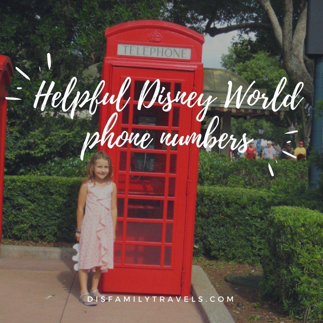 Helpful Disney World Phone Numbers Disney World Disney World Tips And Tricks Disney World Rides