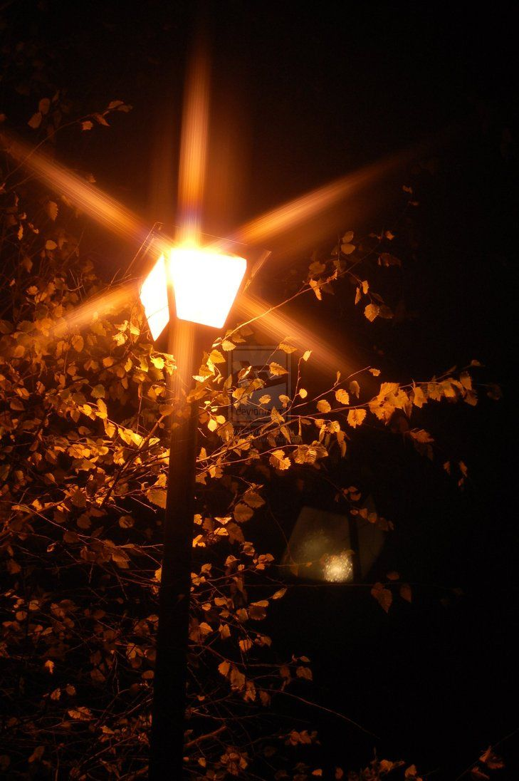 An example of rays around a street lamp, which often develops