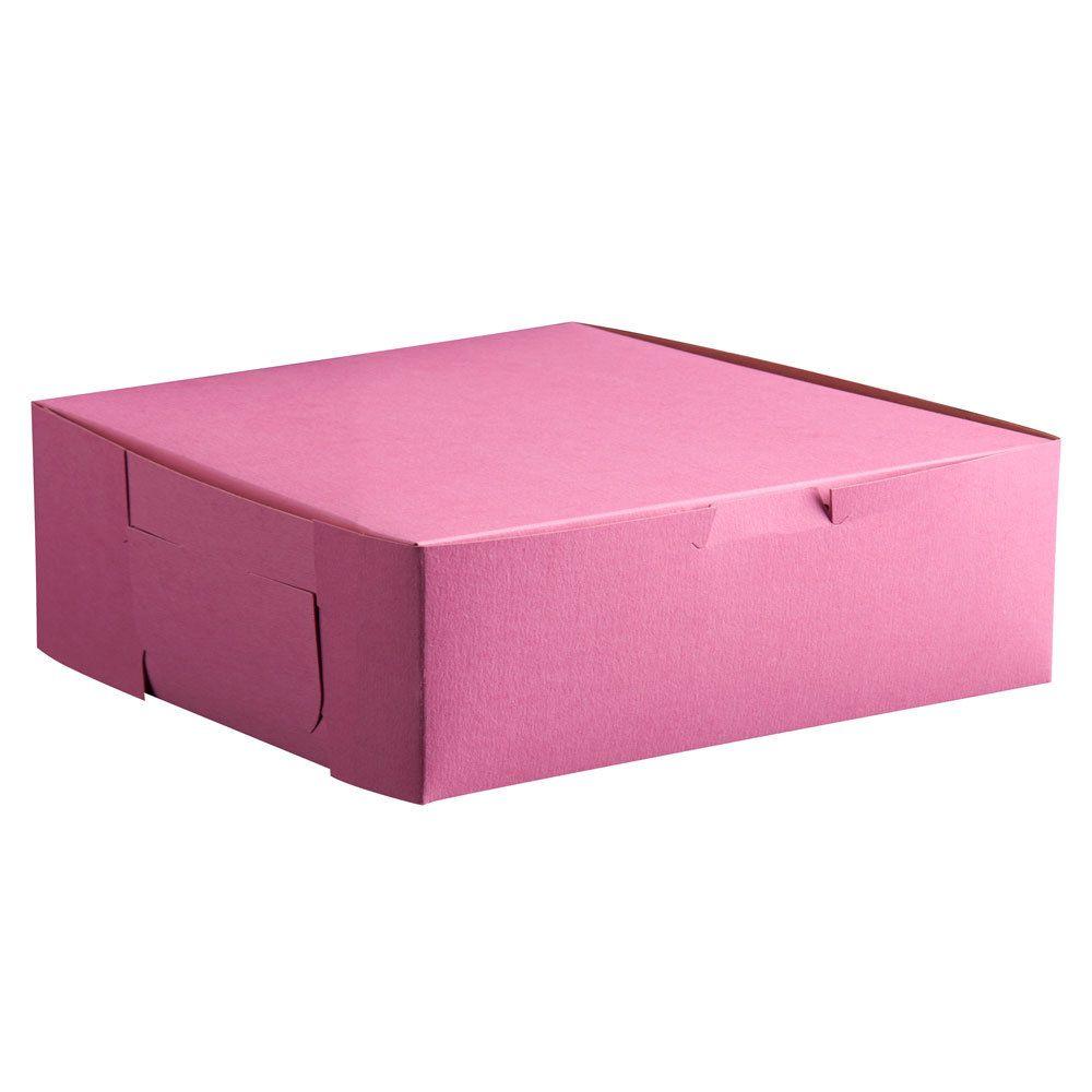 6 12 x 4 x 2 34 pink cake bakery box 250bundle
