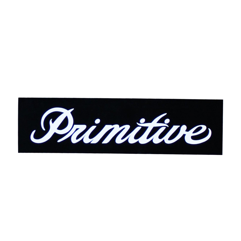 Primitive Skateboard Sticker Bar Logo Black 1 25 X 4 Bar Logo Skateboard Stickers Logos