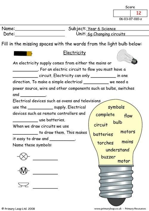 electricity worksheet google search robots pinterest search and worksheets. Black Bedroom Furniture Sets. Home Design Ideas