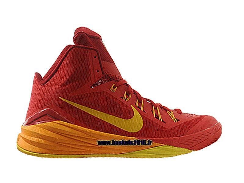 26ffea0d66272 Nike HyperDunk 2014 Spain Chaussures Nike Basket Officiel Pour Homme Rouge  - Jaune 653640-676