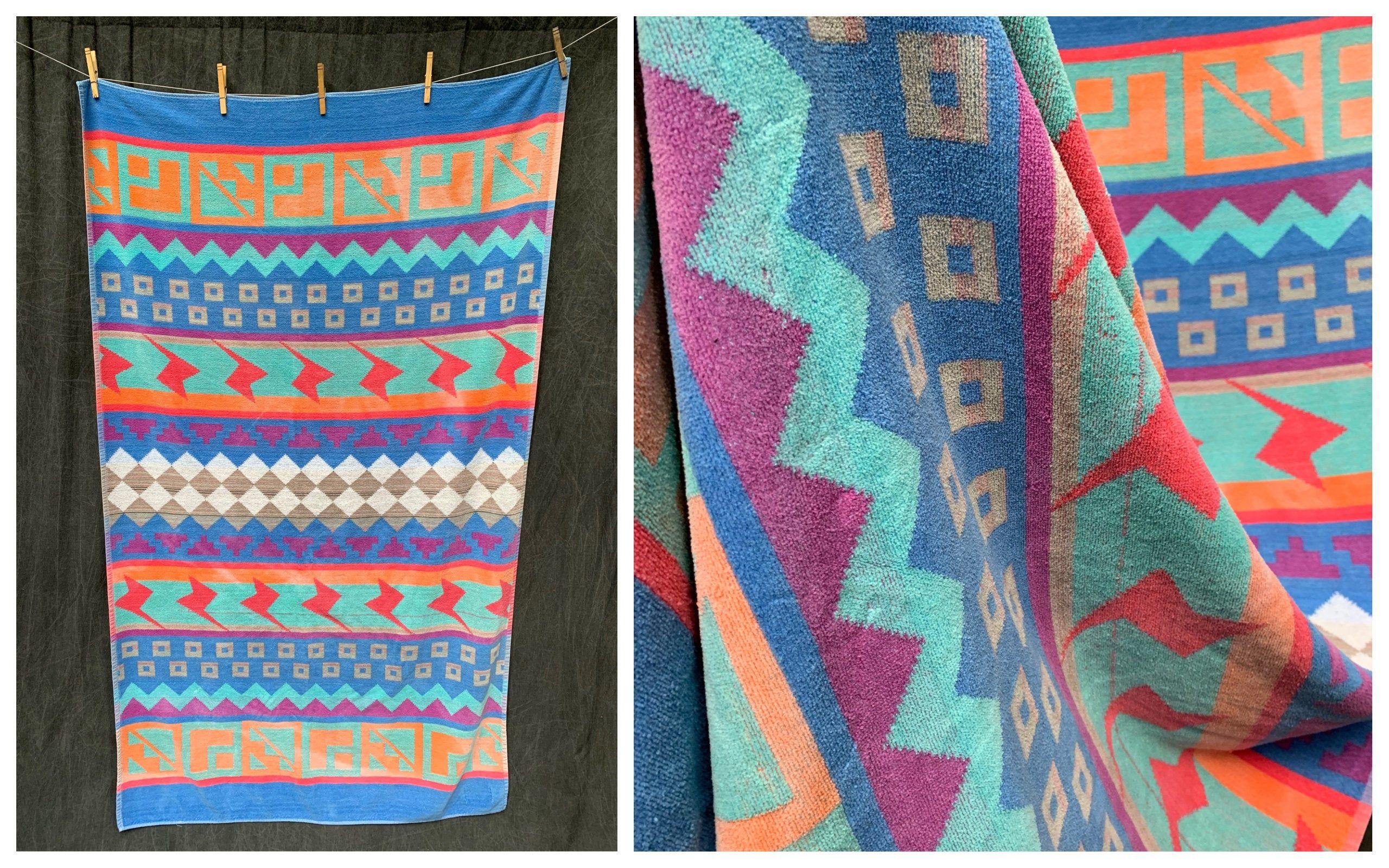 Vintage Beach Towel Design Textiles International Geometric