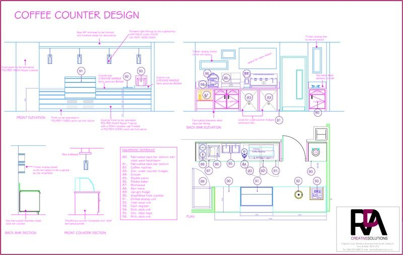 coffee bar layout | Coffee Bar Design Detail | Coffee bar ...