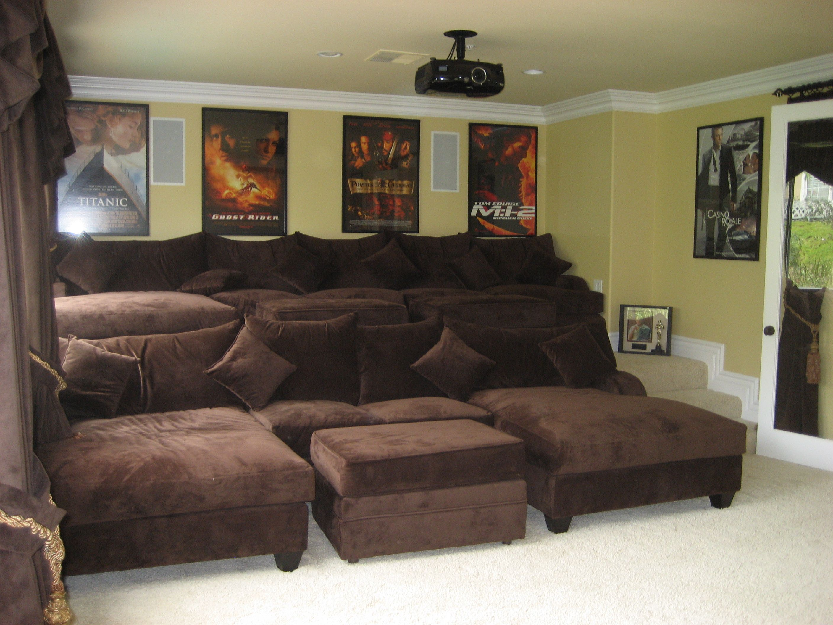 Movie Theaters With Lounge Chairs Hammock Chair Hanging Kit Home Theater Room | Tags: , La Verne Construction Love ...