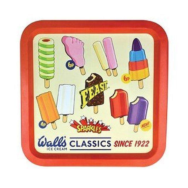 Walls Ice Cream Tin Tray Retro Wall S Classics Lollies 36 X 36