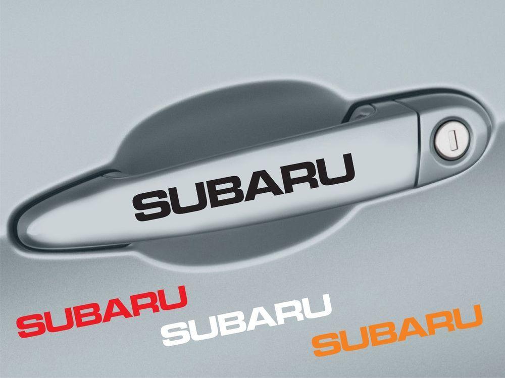4 Pcs Subaru Handle Door Decal Sticker Emblem Logo Impreza