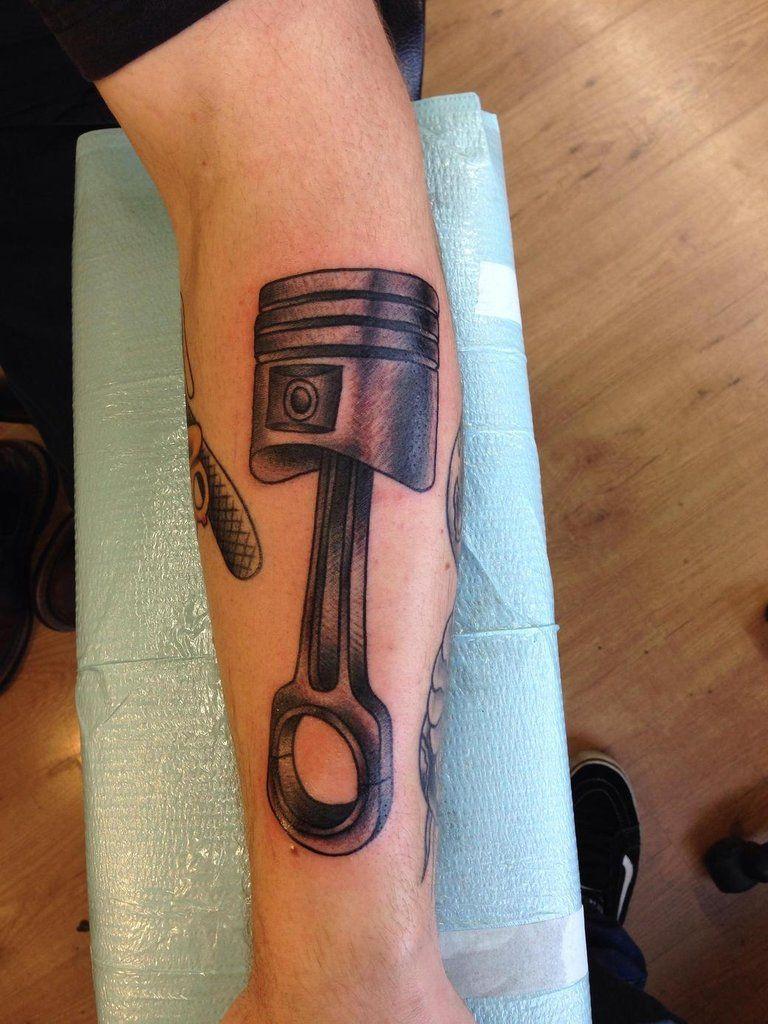 Piston tattoo tattoos pinterest for Piston and wrench tattoo