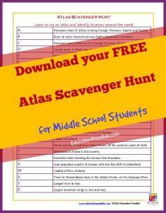 atlas scavenger hunt Geography Activities: World Atlas Scavenger Hunt   To Teach ...