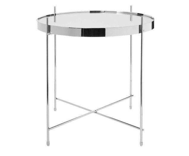 Tavolo Vetro Rotondo Ikea.Tavolino Vassoio Cupid Con Piano In Vetro Tavolini In Metallo