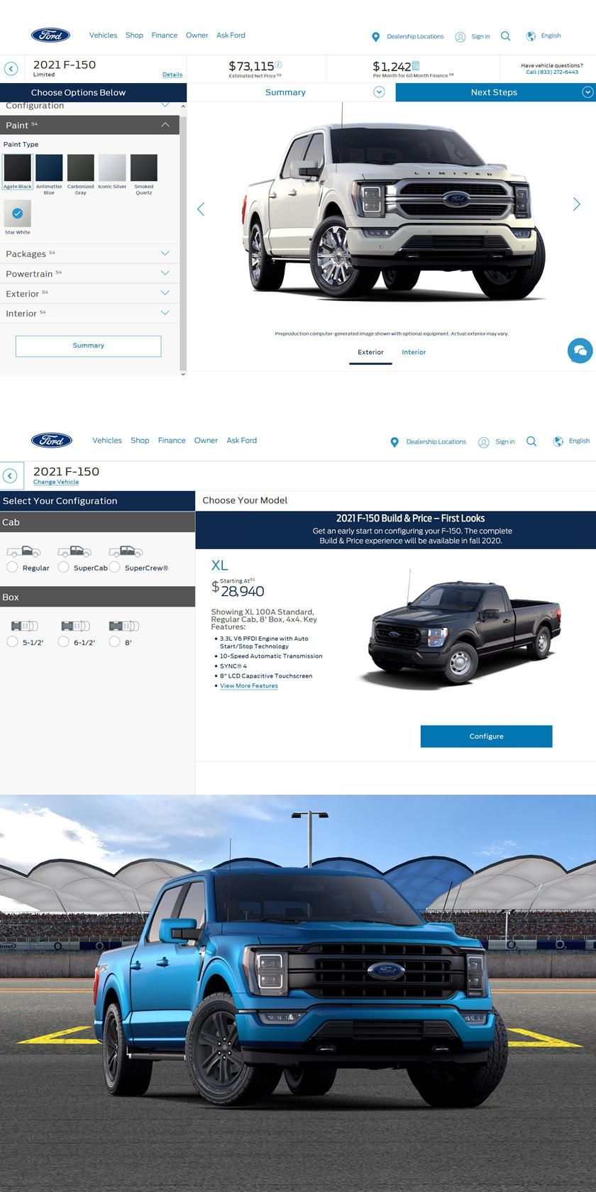 You Can Now Configure Your Dream Ford F 150 Ford Just Launched An Online Build Price Tool For The All New 2021 Ford In 2020 Ford F150 Ford Chevrolet Silverado 1500