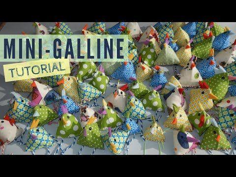 Idee Cucito Per Pasqua : Mini galline per le decorazioni di pasqua tutorial di