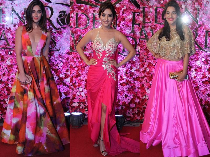 Celebrity Outfits at Lux Golden Rose Awards 2016