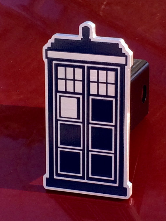 Tardis Doctor Who hitch cover by BrassellDesigns on Etsy
