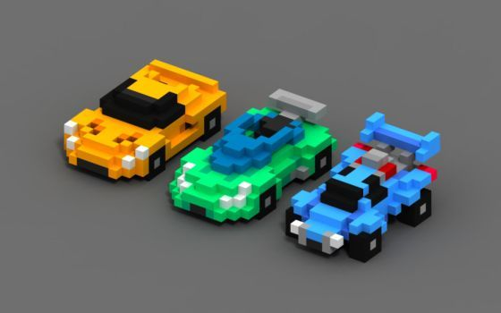 More Chibi Go Cars By Gifboy99 Voxel Car In 2019