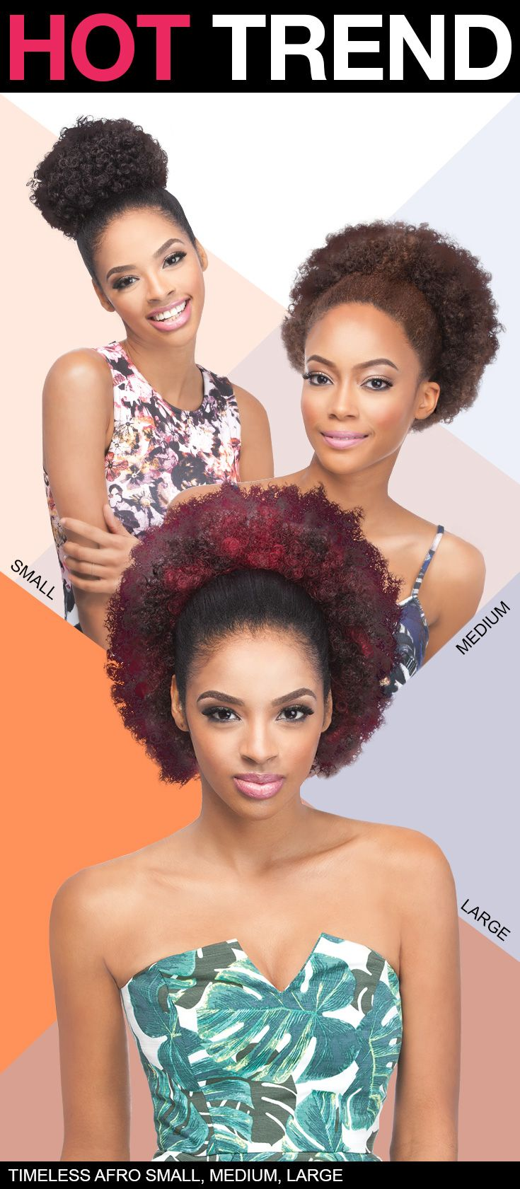 Synthetic Drawstring Ponytail Timeless Afro Small Medium Large By Outre