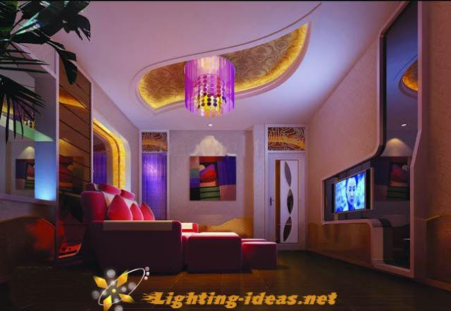 LED lights for home Modern living room with amazing RGB LED strip