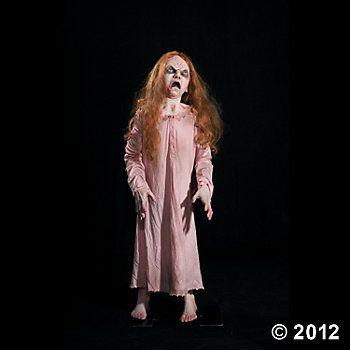 Life-Size Animated Creepy Cathy #OrientalTrading #HalloweenWishList