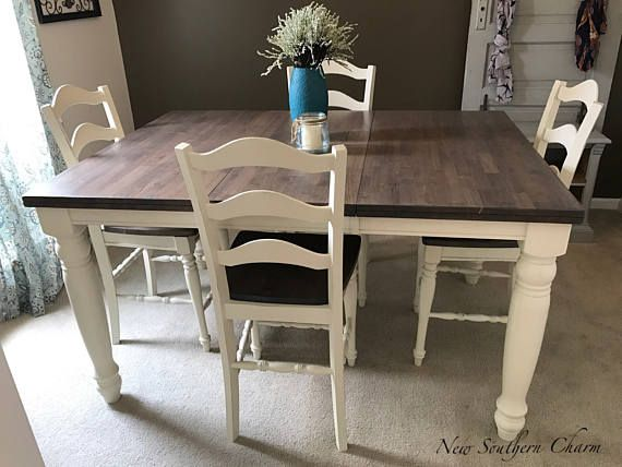 Custom Counter HeightAdjustable Farmhouse Kitchen Dining Table - Custom counter height table