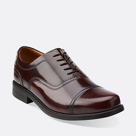 Beeston Cap Ox-Blood Leather - Men's Oxfords and Lace Up Shoes - Clarks