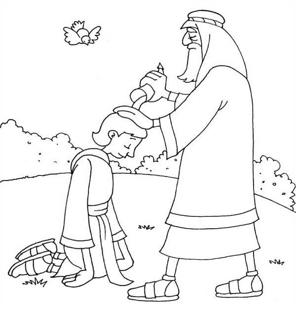 King Saul and Samuel Coloring Page | kids creek ...