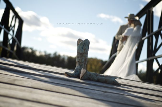 Alabaster Jar Photography » Life Style, Love Story and Life Story  Just the greatest cowboy boots ever! #country wedding