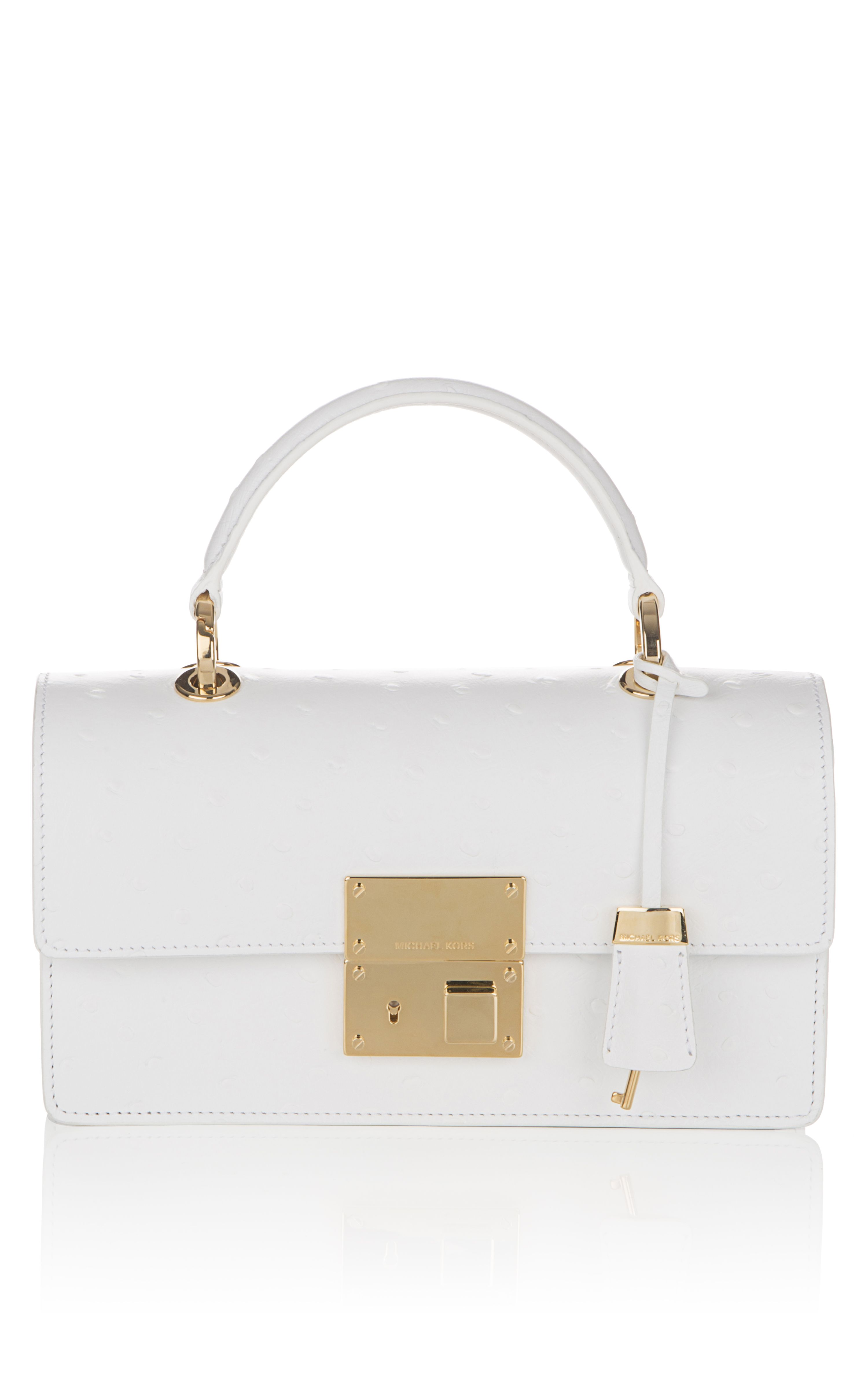 Shop Michael Kors Optic White Middleton East West Flap Bag | SS2013 ...