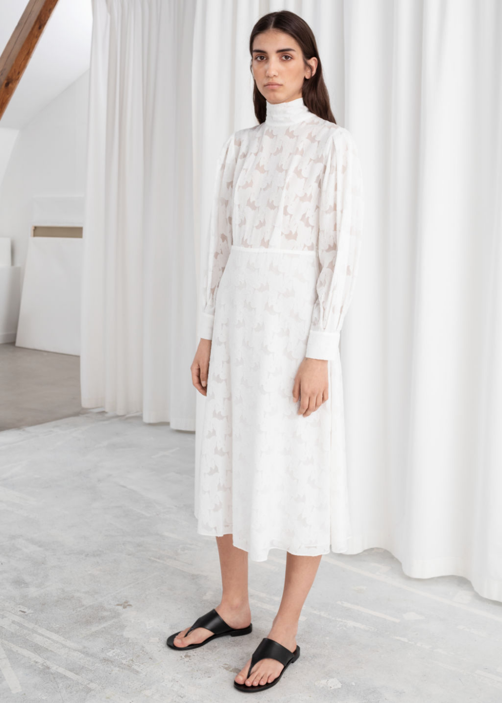 Turtleneck Jacquard Dress Jacquard Dress Dresses Turtleneck Wedding Dress [ 1400 x 1000 Pixel ]