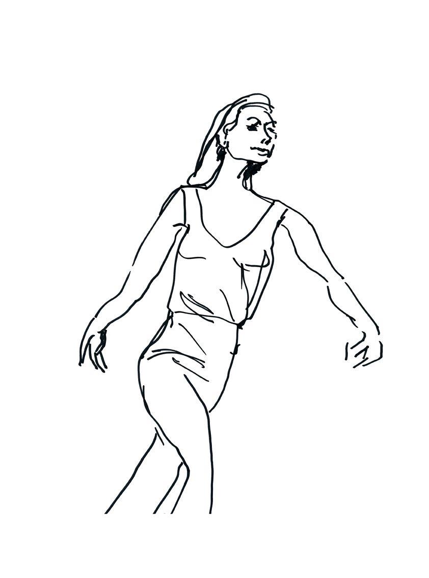 Bailarina elegante. Lámina de 30 x 40 cm