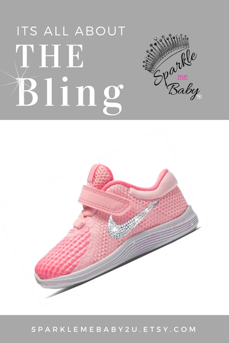 067a4f9b029 Baby Nike - Swarovski Nikes - Crystal Baby Shoes - Blinged Out Nikes ...