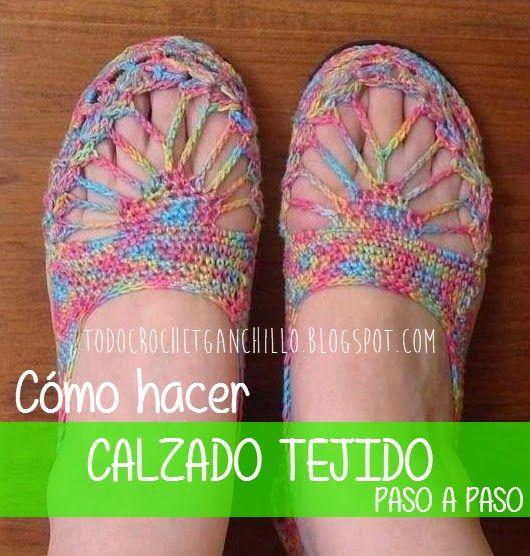 Como APinterest Hacer De Crochet Calzado Mujer Paso A3R54jL