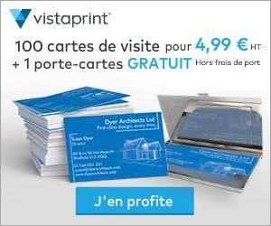 Vistaprint 100 Cartes De Visite Pour 4 99 Euros Ht 1 Porte Cartes Gratuit Cartes Gratuites Carte De Visite Porte Carte