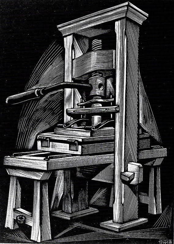 Tranquillo Marangoni (1912-1992): Press, Wood Engraving