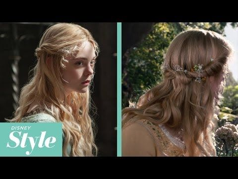 Aurora S Tie Back Twist With Flowers A Princess Hairstyles Disney