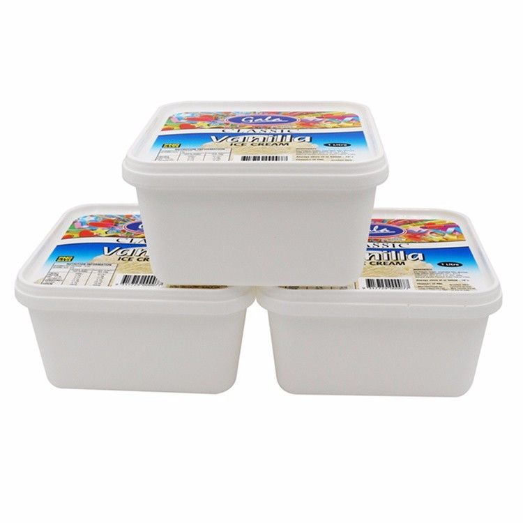 Disposable Fashion Container With Colorful Lid Wholesale Plastic Cups With Lids Ice Cream Containers Food Box Packaging