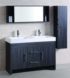 48 Double Sink Vanity 48 Inch Double Sink Bath Vanity In Ebony