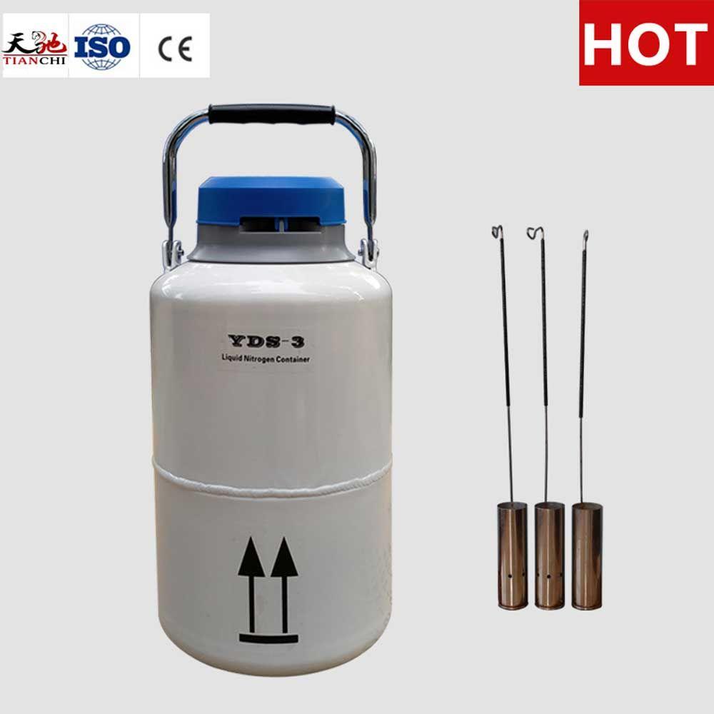 Ln2 Storage Tank 3l 50 Mm Diameter Liquid Nitrogen Container 3